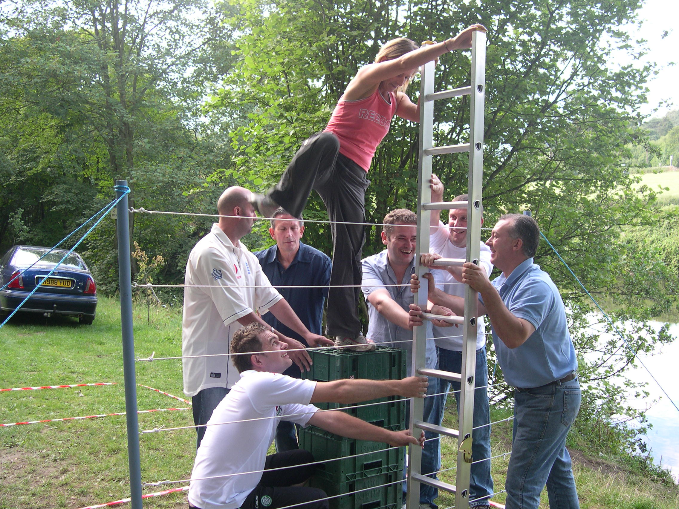 Corporate Events And Outdoor Activity Team Building With